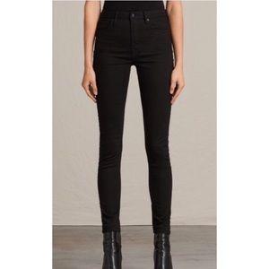 ALLSAINTS THE STILT 2018 Black Coated Jeans NEW-27